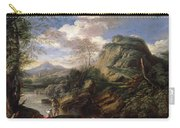 Mountain Landscape With Figures Carry-all Pouch