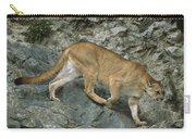 Mountain Lion Crossing Rocky Terrain Carry-all Pouch