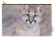 Mountain Lion Cub In Dry Grass Carry-all Pouch