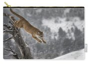 Mountain Lion - Silent Escape Carry-all Pouch by Wildlife Fine Art