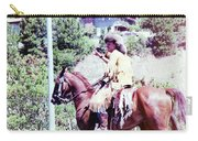 Mountain Man On A Horse Carry-all Pouch