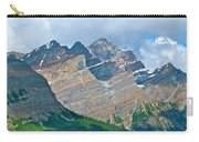 Mountain Peaks From Bow Summit Along Icefield Parkway In Alberta Carry-all Pouch