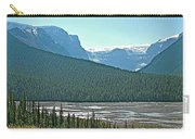 Mountain Peaks From Icefields Parkway-alberta Carry-all Pouch