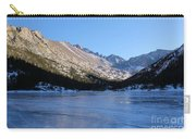 Mountain Reflection On Frozen Lake Carry-all Pouch