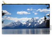 Mountain Reflection On Jenny Lake Carry-all Pouch by Dan Sproul