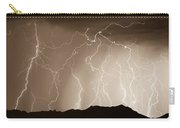 Mountain Storm - Sepia Print Carry-all Pouch