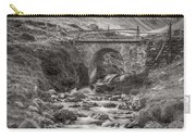 Mountain Stream With Bridge Carry-all Pouch