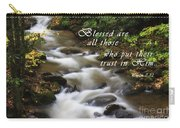 Mountain Stream With Scripture Carry-all Pouch