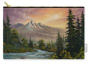 Mountain Sunset Carry-all Pouch by C Steele