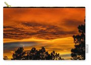 Mountain Wave Cloud Sunset With Pines Carry-all Pouch