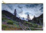 Mountain Wooden Fence  Carry-all Pouch