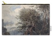 Mountainous Landscape With Beech Trees Carry-all Pouch