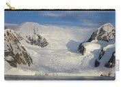 Mountains And Glacier At Sunset Carry-all Pouch