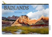 Mountains And Sky In The Badlands National Park  Carry-all Pouch