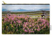 Mountains And Wildflowers Carry-all Pouch