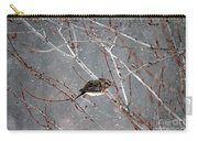 Mourning Dove Asleep In Snowfall Carry-all Pouch