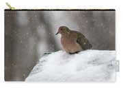 Mourning Dove In Snow Carry-all Pouch
