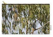 Mourning Doves Landing In Eucalyptus  Carry-all Pouch