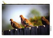 Mourning Doves On Fence Carry-all Pouch