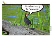 Mouthy Moorhen Anniversary Card Carry-all Pouch