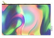 Movement Abstract Ink Digital Painting Carry-all Pouch