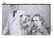 Mr Chicken And Mr Dickens Carry-all Pouch