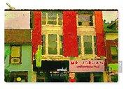 Mr Jordan Mediterranean Food Cafe Cabbagetown Restaurants Toronto Street Scene Paintings C Spandau Carry-all Pouch