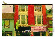 Mr Jordan Mediterranean Food Cafe Cabbagetown Restaurants Toronto Street Scene Paintings C Spandau Carry-all Pouch by Carole Spandau