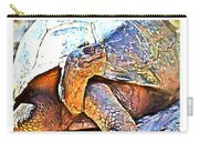 Mr. Tortoise Vertical Triptych Carry-all Pouch