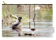 Mr. Wood Duck And Friends Carry-all Pouch