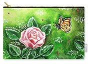 Ms. Monarch And Her Ladybug Friends Carry-all Pouch