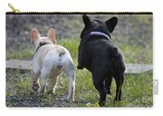 Ms. Quiggly And Buddy French Bulldogs Carry-all Pouch