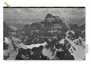 T-703512-bw-mt. Hungabee From Summit Of Mt. Lefroy-bw Carry-all Pouch