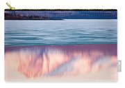 Mt Laurier Mirrored On Lake Laberge Yukon Canada Carry-all Pouch
