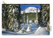 Mt Rainier At Reflection Lakes In Winter Carry-all Pouch