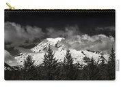 Mt Rainier Panorama B W Carry-all Pouch