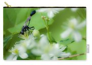 Mud Dauber In The Flowers Carry-all Pouch