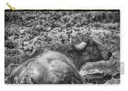 Mudbath-black And White Carry-all Pouch