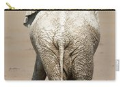 Muddy Elephant With Funny Stance  Carry-all Pouch