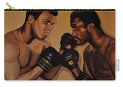 Muhammad Ali And Joe Frazier Carry-all Pouch by Paul Meijering