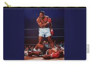 Muhammad Ali Versus Sonny Liston Carry-all Pouch by Paul Meijering