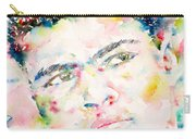 Muhammad Ali - Watercolor Portrait.1 Carry-all Pouch