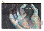 Muladhara - Root 'blue Hand' Chakra Mudra Carry-all Pouch