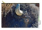 Multi-color-eyed Bison Near Wildlife Loop Road In Custer State Park-south Dakota Carry-all Pouch