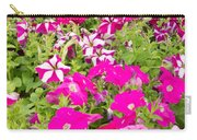 Multi-colored Blooming Petunias Background Carry-all Pouch