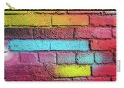 Multi-colored Brick Wall Carry-all Pouch