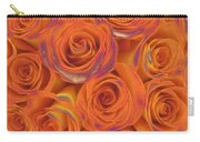 Multi Rose Electric Orange Carry-all Pouch