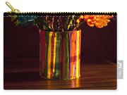 Multicolored Chrysanthemums In Paint Can Carry-all Pouch