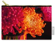 Multicolored Chrysanthemums In Paint Can On Chest Of Drawers Int Carry-all Pouch