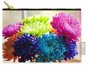Multicolored Chrysanthemums In Paint Can On Window Sill Carry-all Pouch